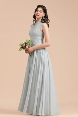 Halter Aline Floor Length Bridesmaid Dress Sleeveless Evening Party Dress_7