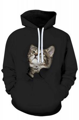 Men's Digital Printed Sweatshirts Hooded Top Cute Cat Pattern Hoodie_4