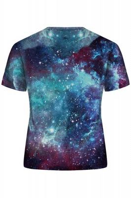 3D T-Shirt Galaxy Space Print T-Shirt O-Ausschnitt Kurzarm Herren T-Shirt Casual Poleras_2