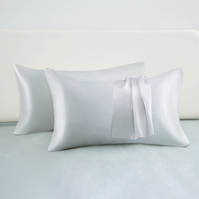 Satin Pillowcase 2 Pack for Hair and Skin Silk Pillowcase-Slip Cooling Satin Pillow Covers with Envelope Closure_48