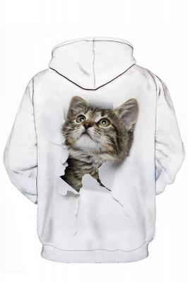 Men's Digital Printed Sweatshirts Hooded Top Cute Cat Pattern Hoodie_6