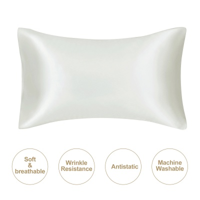 Satin Pillowcase 2 Pack for Hair and Skin Silk Pillowcase-Slip Cooling Satin Pillow Covers with Envelope Closure_34