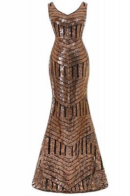 Newest Long Sequin Jewel Mermaid Sleeveless Prom Dress_2