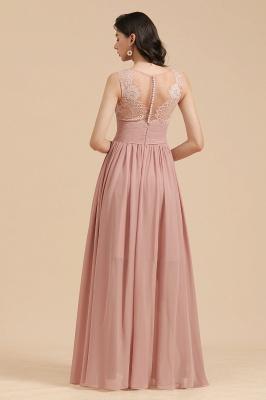 Elegant Sleeveless Ruffle Chiffon Aline Bridesmaid Dress Simple Wedding Dress Floor length_3