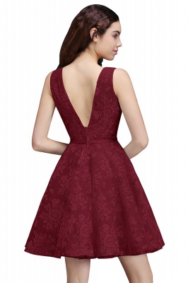 ALEAH   A Line Strtaps Lace Cocktail Homecoming Dresses With Sash_2