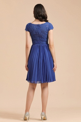 Stylish Floral Lace Short Sleeves Aline Party Dress Mini Daily Casual Dress_5