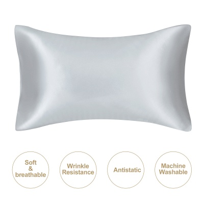 Satin Pillowcase 2 Pack for Hair and Skin Silk Pillowcase-Slip Cooling Satin Pillow Covers with Envelope Closure_47