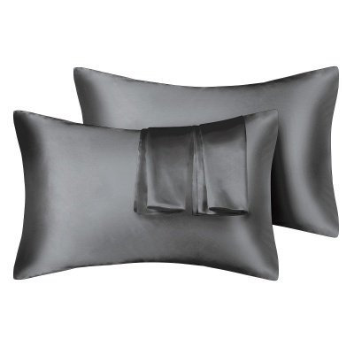 Satin Pillowcase 2 Pack for Hair and Skin Silk Pillowcase-Slip Cooling Satin Pillow Covers with Envelope Closure_12