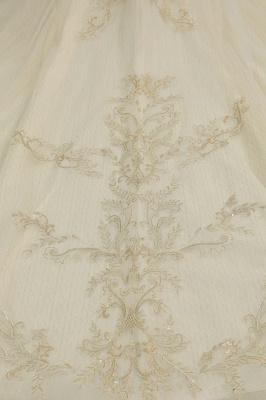 Wunderschönes schulterfreies Blumengartenballkleid aus Tüllspitze mit Brautkleid für die Braut_7