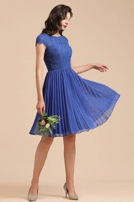 Stylish Floral Lace Short Sleeves Aline Party Dress Mini Daily Casual Dress_7
