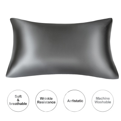 Satin Pillowcase 2 Pack for Hair and Skin Silk Pillowcase-Slip Cooling Satin Pillow Covers with Envelope Closure_37