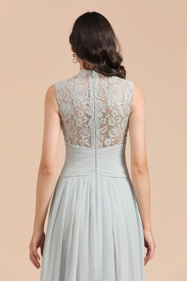 Halter Aline Floor Length Bridesmaid Dress Sleeveless Evening Party Dress_9