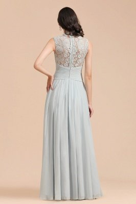 Halter Aline Floor Length Bridesmaid Dress Sleeveless Evening Party Dress_3
