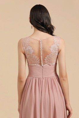 Elegantes ärmelloses Rüschen-Chiffon-Aline-Brautjungfernkleid Einfaches Hochzeitskleid Bodenlänge_10