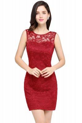 ARYA   Sheath Scoop Black Lace Cheap Homecoming Dresses_1