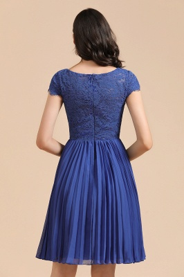 Stylish Floral Lace Short Sleeves Aline Party Dress Mini Daily Casual Dress_3