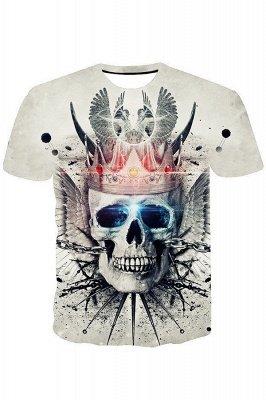 Unisex 3D Cross Skull Black Print Pullover Hoodie Hooded Sweatshirt_1