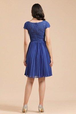 Élégante robe de soirée en dentelle florale à manches courtes Aline Mini robe décontractée quotidienne_5