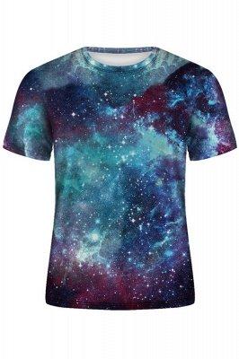 3D T Shirt Galaxy Space Print Tee Shirt O Neck Short Sleeve Men's T-shirt Casual Poleras