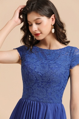 Stylish Floral Lace Short Sleeves Aline Party Dress Mini Daily Casual Dress_8