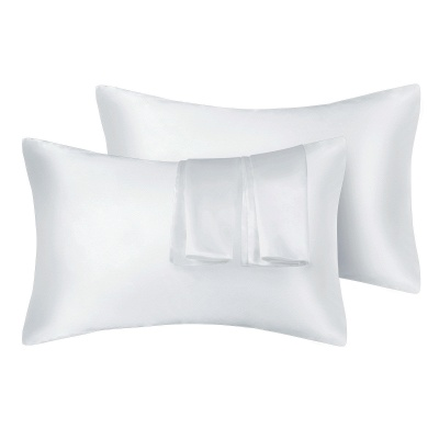 Satin Pillowcase 2 Pack for Hair and Skin Silk Pillowcase-Slip Cooling Satin Pillow Covers with Envelope Closure_1