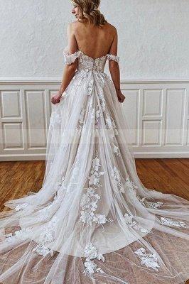Charmantes ärmelloses 3D Floral Lace Aline Brautkleid Sweetheart Simple Bridal Gown_2