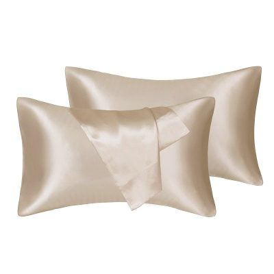 Satin Pillowcase 2 Pack for Hair and Skin Silk Pillowcase-Slip Cooling Satin Pillow Covers with Envelope Closure_5