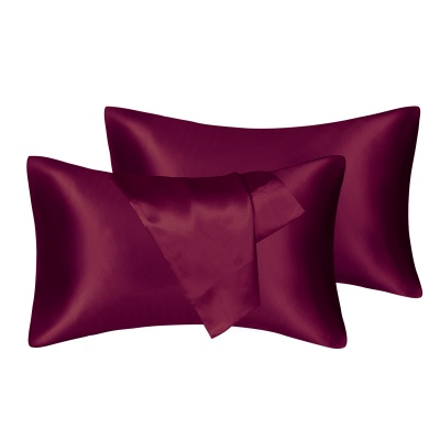 Satin Pillowcase 2 Pack for Hair and Skin Silk Pillowcase-Slip Cooling Satin Pillow Covers with Envelope Closure_4