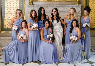 Convertible Dress  Bridesmaid Dress Multi-way Twist Wrap Dress_5