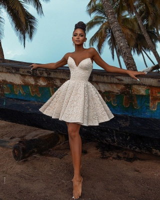Chic Off Shoulder Floral Short Homecoming Dress Party Dress_2