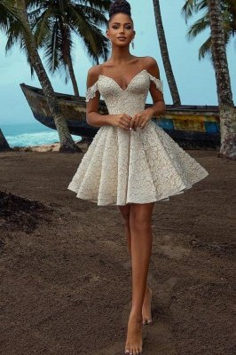 Chic Off Shoulder Floral Short Homecoming Dress Party Dress