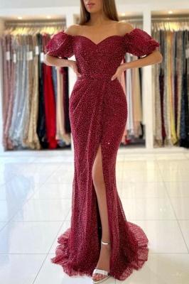 Charmante robe de soirée sirène à épaules dénudées_1