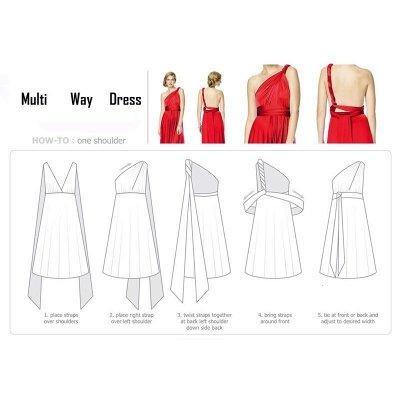 Convertible Dress  Bridesmaid Dress Multi-way Twist Wrap Dress_21