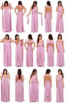 Infinity Dress Convertible Maxi Bridesmaid Dress Chiffon Multi Way Warp Wedding Party Dresses_4