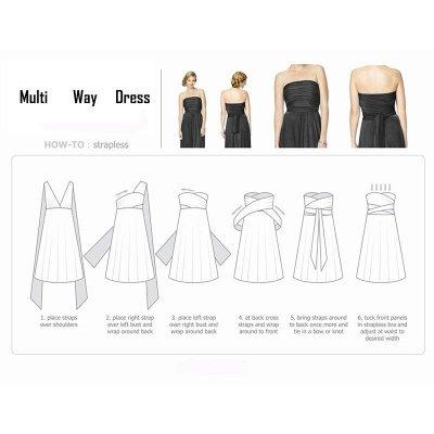Convertible Dress  Bridesmaid Dress Multi-way Twist Wrap Dress_23