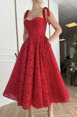 Charming Sweetheart Sleeveless Red Daily Casual Dress Party Dress