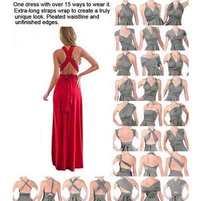 Convertible Dress  Bridesmaid Dress Multi-way Twist Wrap Dress_6