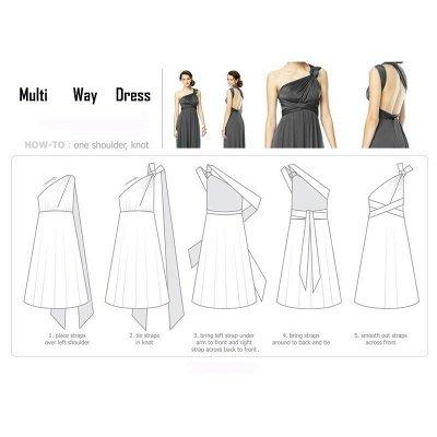 Convertible Dress  Bridesmaid Dress Multi-way Twist Wrap Dress_22