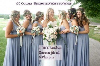 Convertible Dress  Bridesmaid Dress Multi-way Twist Wrap Dress_4