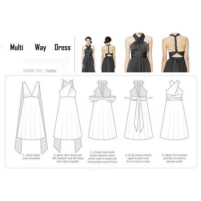 Convertible Dress  Bridesmaid Dress Multi-way Twist Wrap Dress_25