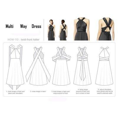 Wandelbares Kleid Brautjungfernkleid Multi-way Twist Wickelkleid_24