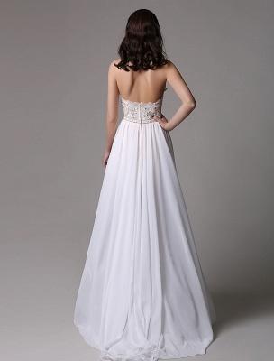 White Prom Dresses 2021 Long Ivory Halter Backless Evening Dress Lace Applique Beading Chiffon Split Party Dress_10