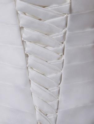 Ivory One-Shoulder Ruched Organza Mermaid Wedding Dress_7