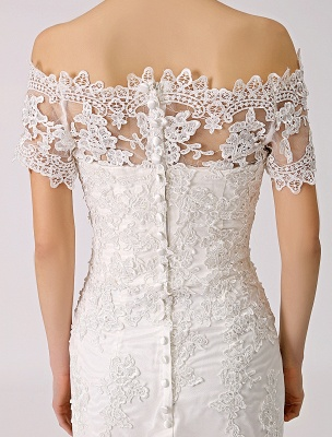 Vintage Inspired Off The Shoulder Mermaid Lace Wedding Dress Exclusive_7