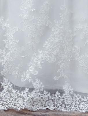 White Wedding Dress Lace Backless Bridal Dresses Rhinestones Beaded Mermaid Wedding Gown_8