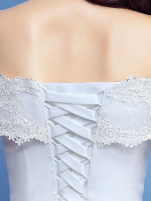 Robe de bal robe de mariée princesse silhouette parole longueur bateau cou manches courtes appliques tulle robes de mariée_5