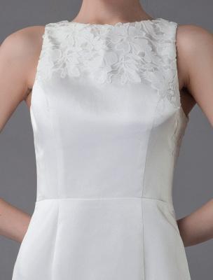Kurzes Brautkleid Vintage Jewel Ärmelloses Etui-Brautkleid Exklusiv_10