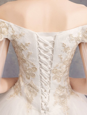 Brautkleider-Tüll-Off-The-Shoulder-Kurzarm-Spitze-Applikation-Prinzessin-Brautkleid_8