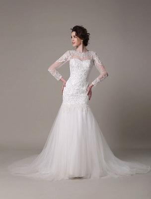 Pailletten-Hochzeit-Kleid-Abnehmbar-Ausschnitt-Spitze-Applikation-Meerjungfrau-Gericht-Zug-Brautkleid-Exklusiv_3