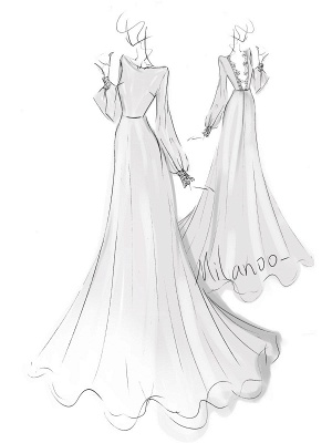 Simple Wedding Dress Lycra Spandex Bateau Neck Long Sleeves Lace A Line Bridal Gowns_9
